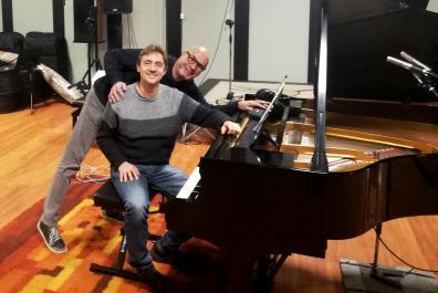 Io e Fabrizio con lo Steinway del Sonic Factory